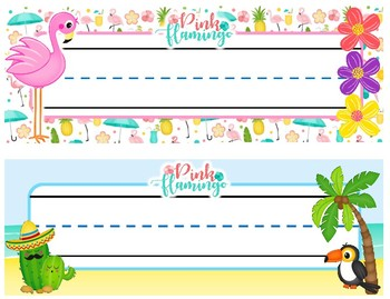 Tropical Flamingo Nameplates