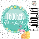 Tropical Flamingo Teacher Binder & Planner Pack - Yearly Updates!