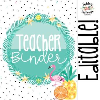 Tropical Flamingo Teacher Binder & Planner Pack - Yearly Updates!
