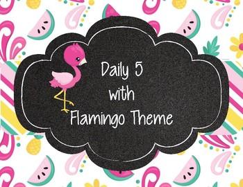 Tropical Flamingo Theme Daily 5