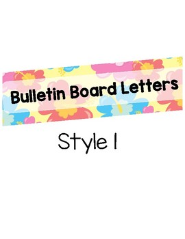 Tropical Flower bulletin Board Letters (Printable)