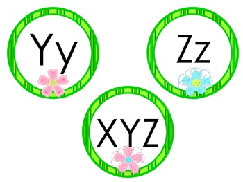 Tropical Flowers Alphabet Headers for Word Wall