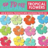 Tropical Flowers Clip Art (Digital Use Ok!)