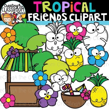 Tropical Friends Clipart {Summer Clipart}