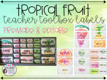 Tropical Fruit Teacher Toolbox Labels