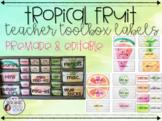 Tropical Fruit Teacher Toolbox Labels