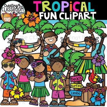 Tropical Fun Clipart {Summer Clipart}
