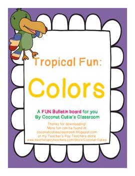 Tropical Fun Decor {Colors Bulletin Board}