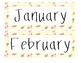 Tropical Fun Theme Calendar Set