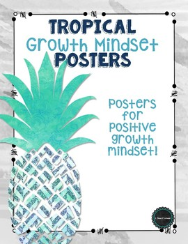 Tropical Growth Mindset Posters