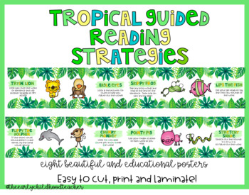Tropical Guided Reading Strategy Posters