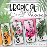 Tropical Hall Passes in 2 sizes (pineapples, flamingos, po
