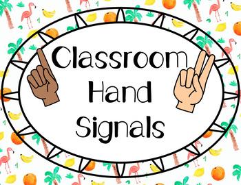 Tropical Hand Signals