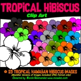 Summer Hibiscus Clipart | Summer Clip Art for Personal and Commercial Us