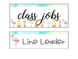 Job Chart - Tropical Themed