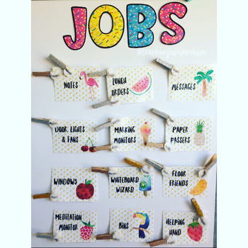 Tropical Jobs Chart Editable