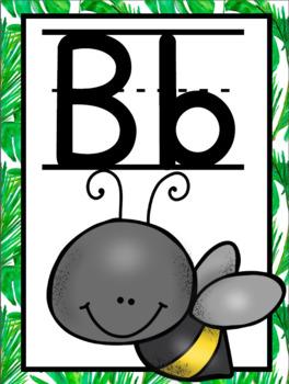 Tropical/ Jungle Alphabet Posters