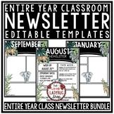 Tropical Classroom Decor Editable Newsletter Template Jung