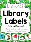 Tropical/Jungle Library Labels featuring Melonheadz with c