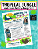 Editable Meet the Teacher & Welcome Letter [Bright Tropical Jungle Theme]