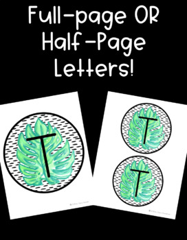 Tropical Leaf Letters! Use for Bulletin Boards and Word Walls!