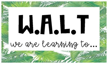 Tropical Learning Intention Posters