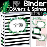 Tropical Leaves  Binder Covers