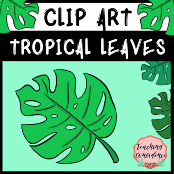 Tropical Leaves Clip Art - Summer and Island Theme by ...