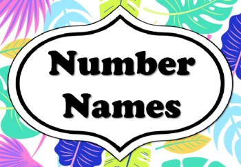 Tropical Leaves Number Names 1 100 Classroom Decor By Swati Sharma On this page, pngtree offers free hd tropical palm leaves png png free download png images with transparent background. teachers pay teachers