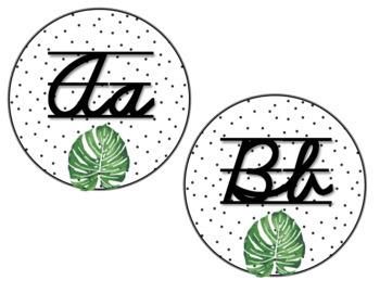 Tropical Leaves & Oak Alphabet Posters