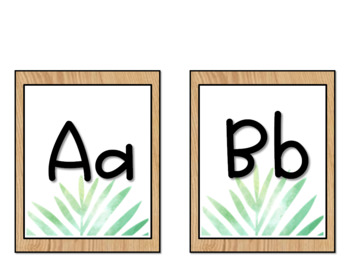 Tropical Leaves & Oak BUNDLE- Classroom Decor