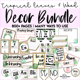 Tropical Leaves & Wood BUNDLE | 800+ Pages | Beach Theme