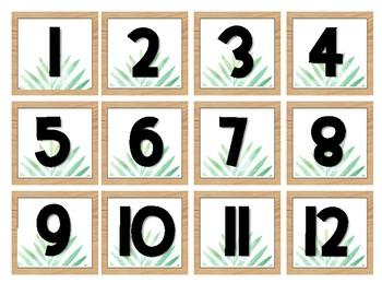 Tropical Leaves & Oak Calendar Pieces