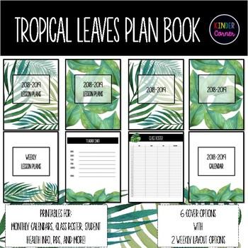 Tropical Leaves Teacher Planner 2018-2019