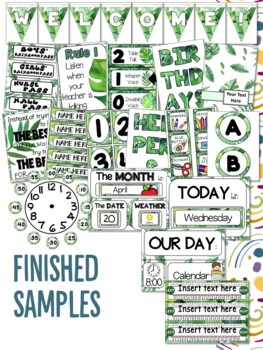 Tropical Leaves Themed Classroom Decor for Upper Primary