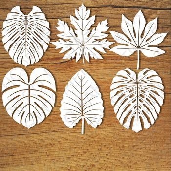 Tropical Leaves (set1) SVG files for Silhouette Cameo and Cricut
