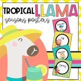 Tropical Llama Season Posters
