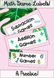 Tropical Math Game Labels