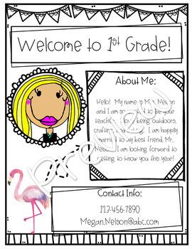 Tropical Meet the Teacher! Editable