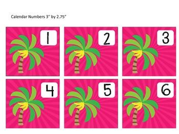 Tropical Monkey Calendar Set