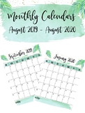 Tropical Monthly Calendars