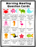Tropical Morning Meeting Task Cards