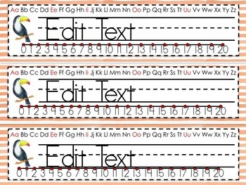 Tropical Name Plates - Editable