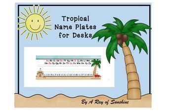 Tropical ~ Name Plates for Desks