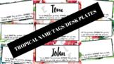 Tropical Name Tags/Desk Plates - FREEBIE!