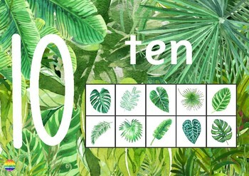 Tropical Number Posters 0-10 + 0-20