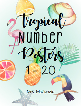 Tropical Number Posters 1-20