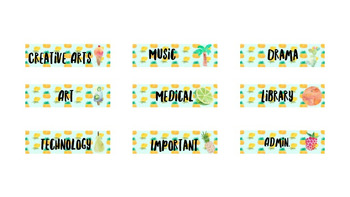 Tropical Organiser Labels Editable