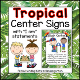 Tropical Palm Leaves Center Signs