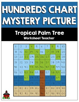 Tropical Palm Tree Hundreds Chart Mystery Picture